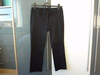 DOROTHY PERKINS BLACK SIZE 8 CROPPED TROUSERS AS NEW