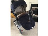 M&P Urbo2 Stroller and Footmuff - Hardly Used