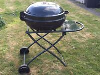 Green collapsible kettle BBQ