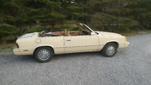 Classic 1986 Dodge 600 Convertible