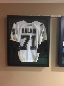 SIGNED MALKIN JERSEY WITH DISPLAY CASE