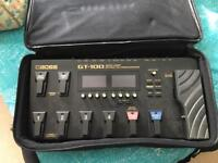Boss GT100 with gator case