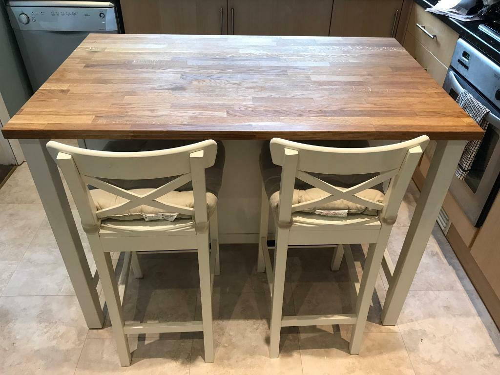 ikea stenstorp kitchen island breakfast bar table and stools | in