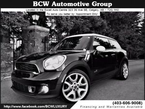 2013 MINI Cooper Paceman S ALL4 AWD Certified Must See $21,995.