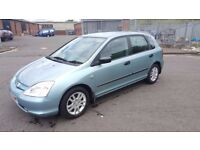 ** Automatic** 2003 Honda Civic S Auto 1.6 Petrol 5 Door Full Service History.....