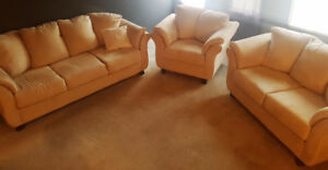Comfy & stylish Dynasty COUCHES - LIVING ROOM SET (3 yrs old)!