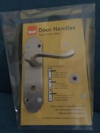 New in box B&Q door handles 4 available