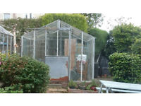 Greenhouse free if uplifted. 10 foot be 8 foot so quite sizeable . Reasonable condition