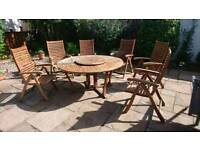 Pagoda, quality, hardwood set of table and chairs