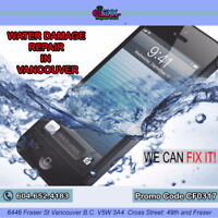 iPhone water damage free diagnosis fast repair in Vancouver