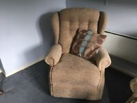 2 seater sofa and chair.