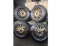 "Team Dynamics 17"" Alloy Wheel set"