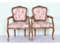BEAUTIFUL LOUIS FRENCH STYLE CARVER CHAIR - UK WIDE DELIVERY - £79 each