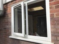 Upvc Double Glazing Window. White. 120cm x 101cm