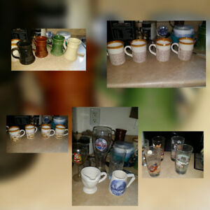 Mugs glasses collectables