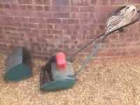 Electric Qualcast Lawnmower Green