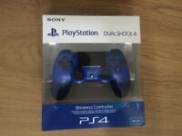 PlayStation PS4 Controller Blue BRAND NEW AND SEALED