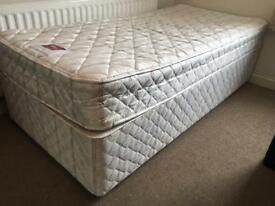 Single divan bed with mattress-£45 delivered