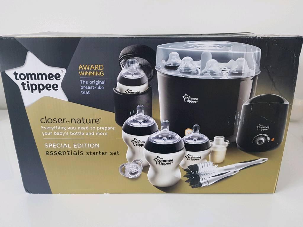 New Tommee Tip Special Edition Black Essentials Starter Set