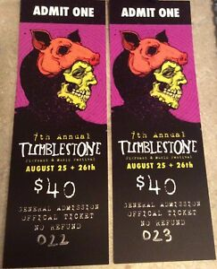 2 Tickets to Tumblestone premier music festival and pig roast