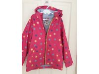Joules girls rubber raincoat age 8