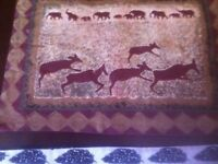 Series of 9 African table mats