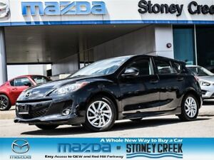 2013 Mazda MAZDA3 GS-SKY AUTO, SUNROOF, LEATHER, 1 OWNER!