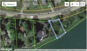 82' Lake Ontario waterfront on this building lot