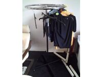 Round Metal Rotary Clothes Rail