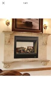 Looking for double sided gas fireplace