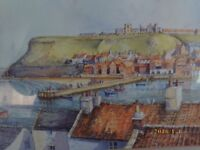 watercolour of whitby