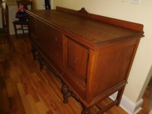 Antique Hutch & Display Cabinet