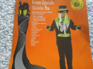 Costume d'halloween Homme squelette 20 $