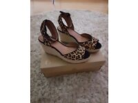 """Ladies next wedges. Never worn. £15. Miss KG 4"""" gold heels. Worn once. Paid £75 will accept £30 ono"""