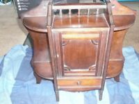 antique wall/free standing mahogany cabinet