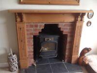 Handmade Solid Pine Fire Surround
