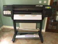 "HP DesignJet 1050c - 36"" large format printer - New Belt & Heads"