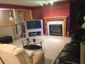 Spacious basement for rent on acreage