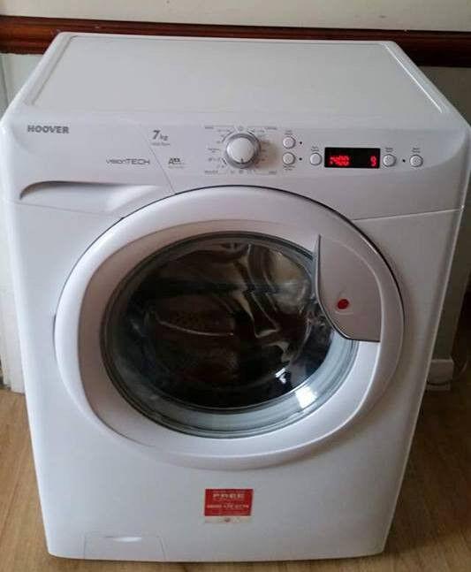 9 months old hoover vision big washing machine 7kg drum 1400 spin lcd digital can deliver in. Black Bedroom Furniture Sets. Home Design Ideas
