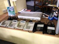 panasonic office telephones full set