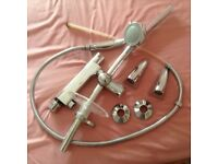 Thermostatic shower valve ,shower head ,hose, riser rail