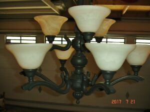 9 light Murano glass entry chandelier