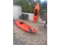 Two kayaks Teksport 290 and Teksport 240