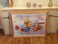 """Large Pine Framed Disney Picture 40"""" x 30"""" Brand New Winnie the Pooh Portadown £10 07563870358"""