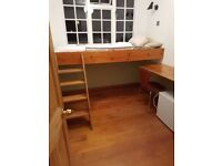 Lovely, unusual single room in family home- Oval -Would suit student or young professional.