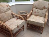 Conservatory chairs and side table