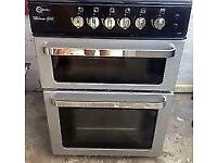 BLACK FLAVAL CHROME DESIGN FREE STANDING 60cm ELECTRIC COOKER, 4 MONTHS WARRANTY