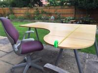 Ikea corner desk with chair