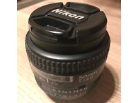 Nikon 50 mm F/1.4D Lens - Black