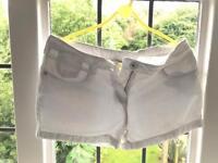 Next Girls White Denim Shorts